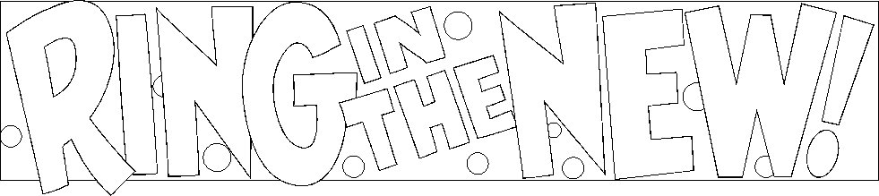 Ring In The New! Happynewyear Coloring Page