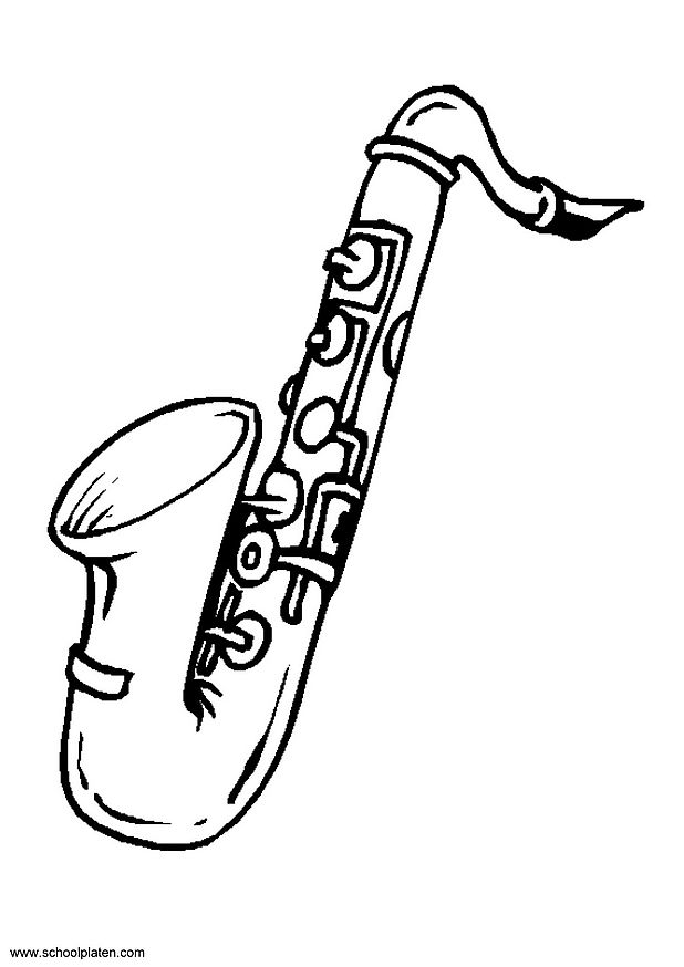 Saxophone Coloring Page