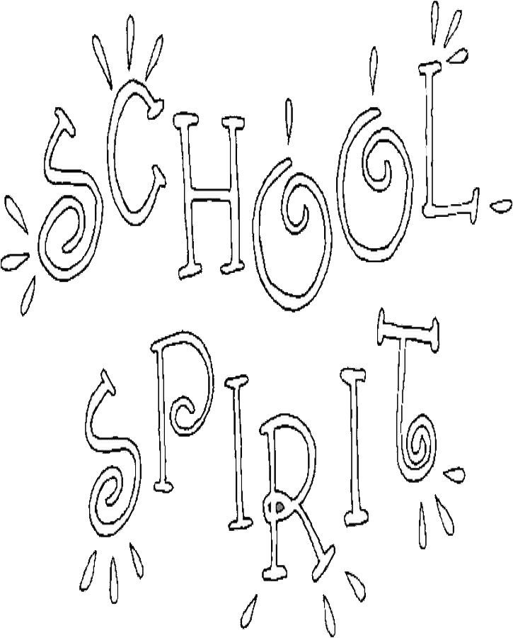 School Spirit Coloring Page