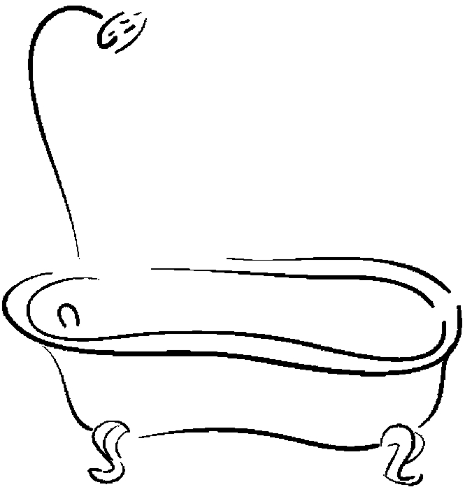 coloring pages bathtubs - photo#24