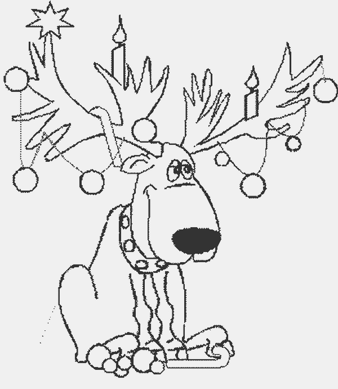 Sillyrein Christmas Coloring Page