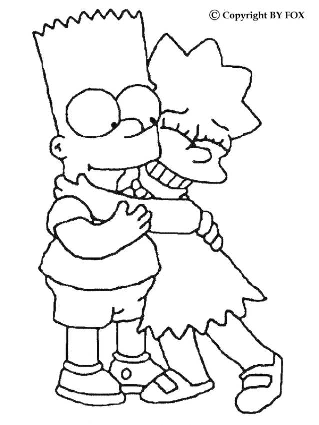 simpsons coloring page - Printable Simpsons Coloring Pages