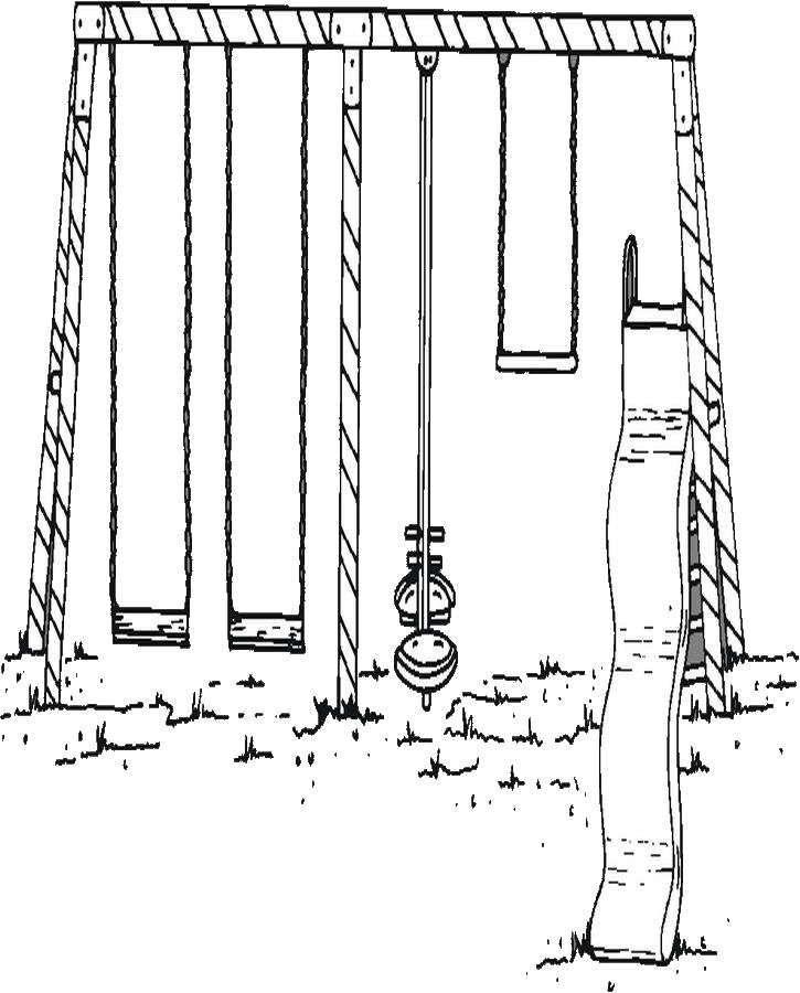 swing set coloring page swing set coloring page color book
