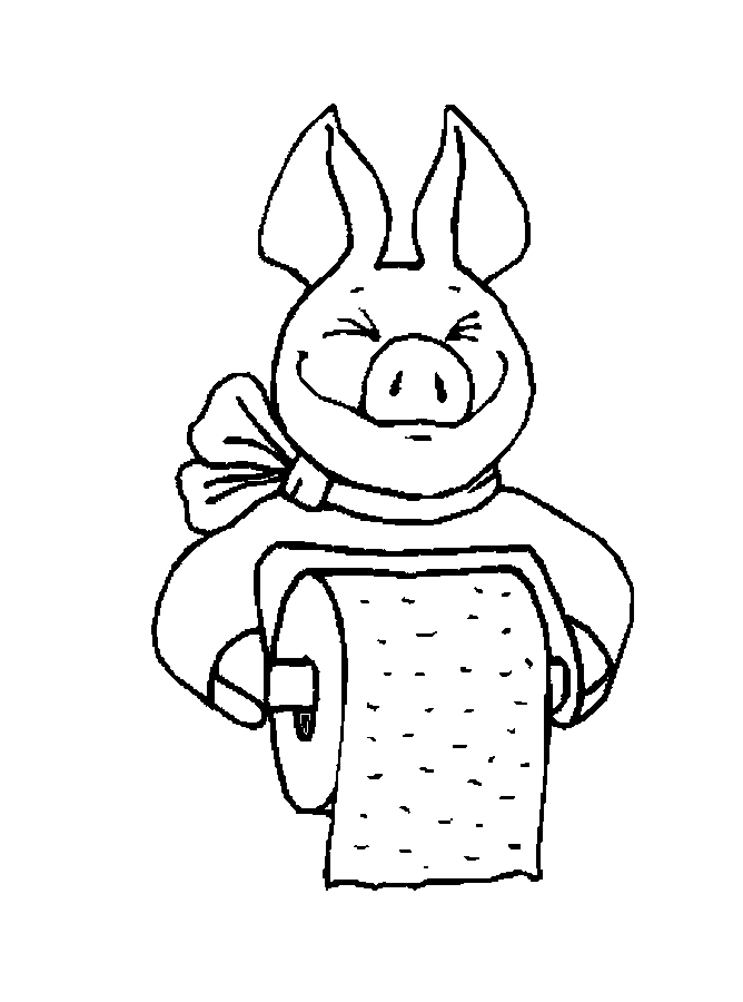 Toilet Paper Holder Coloring Page