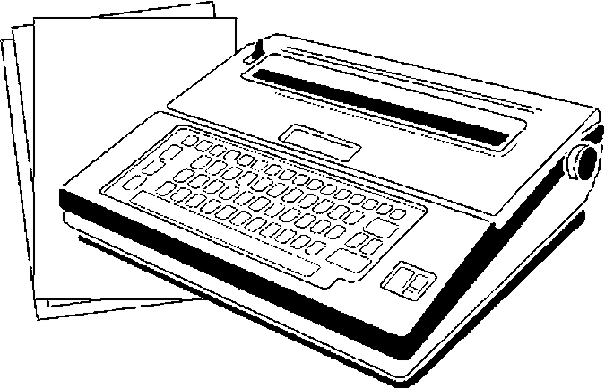 Typewriter Coloring Page