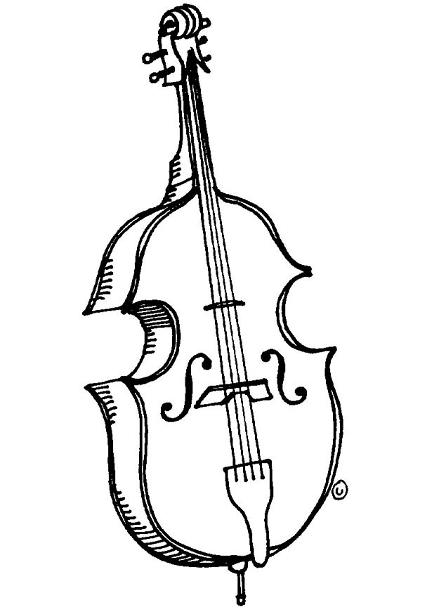 Viola Coloring Page