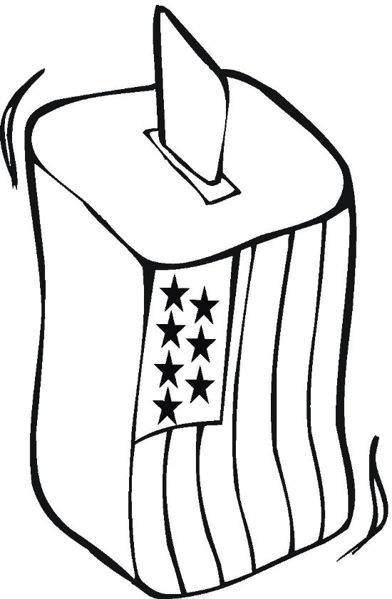 Vote Coloring Page