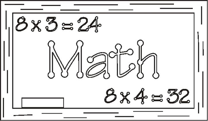 Mathsignbw Coloring Page
