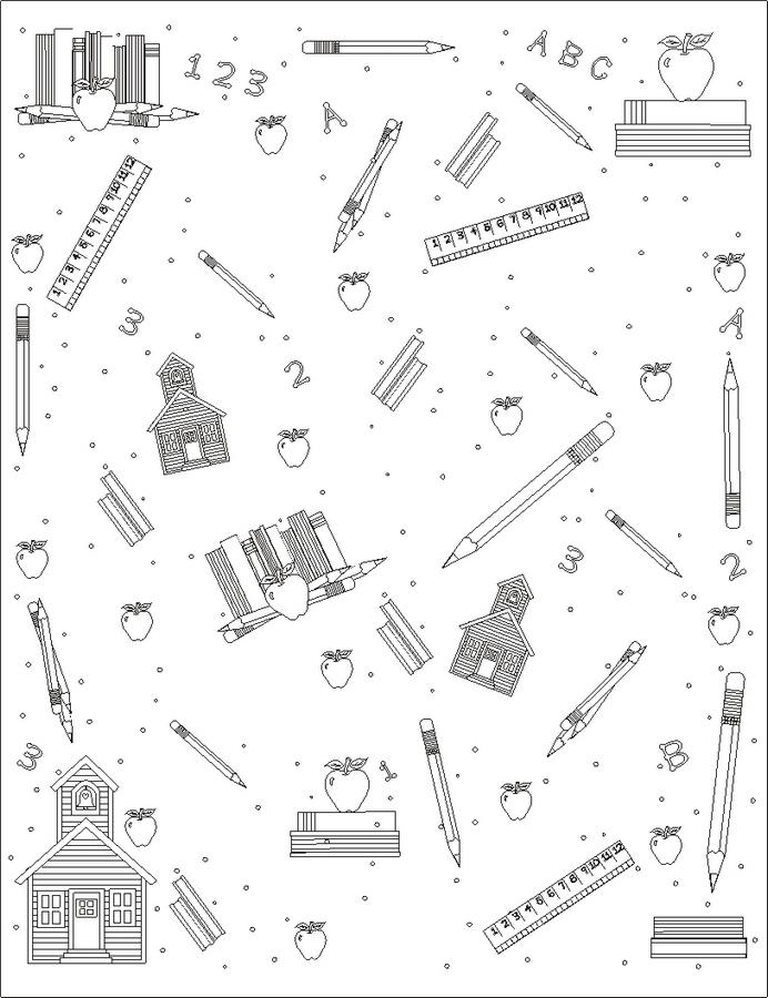 Schoolpaperbw Coloring Page