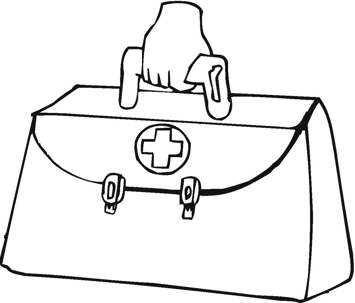 kids coloring pages doctor kit - photo#26