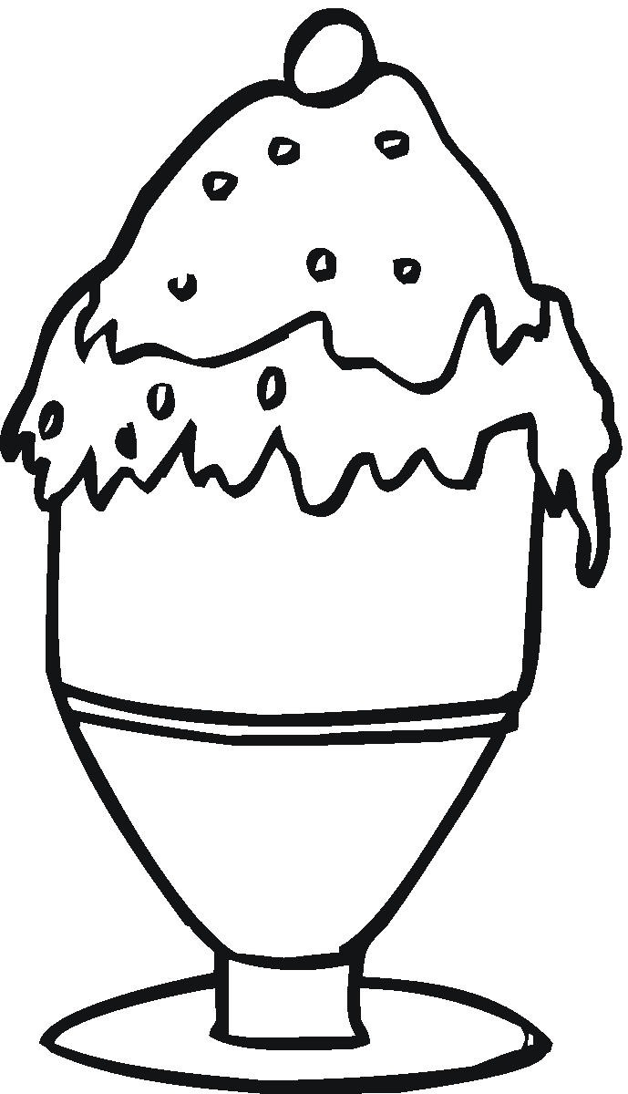 ice cream sandwich coloring pages - photo #11