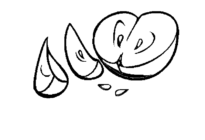 Apple Slices Coloring Page