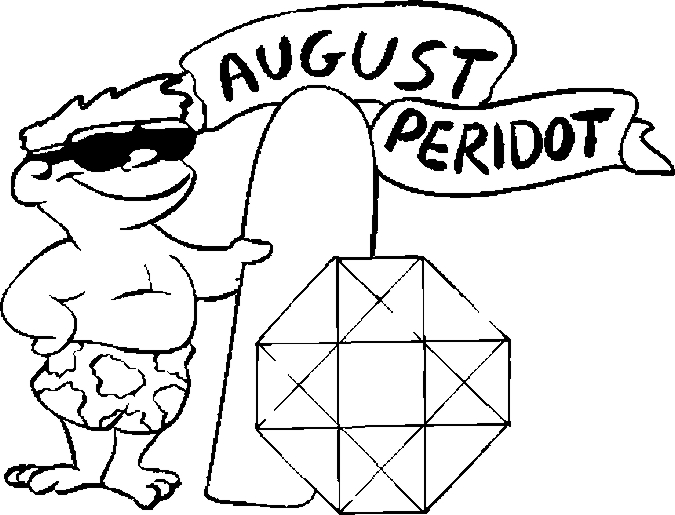 August – Peridot Coloring Page