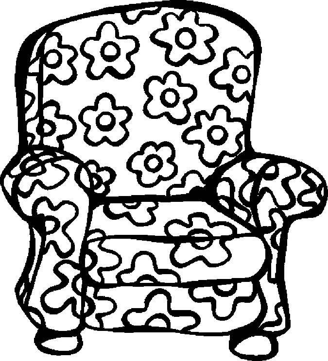 Chair – Floral Offbeat Coloring Page