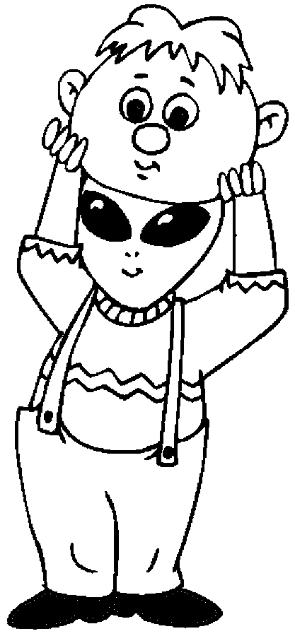 Costume – Boy Coloring Page