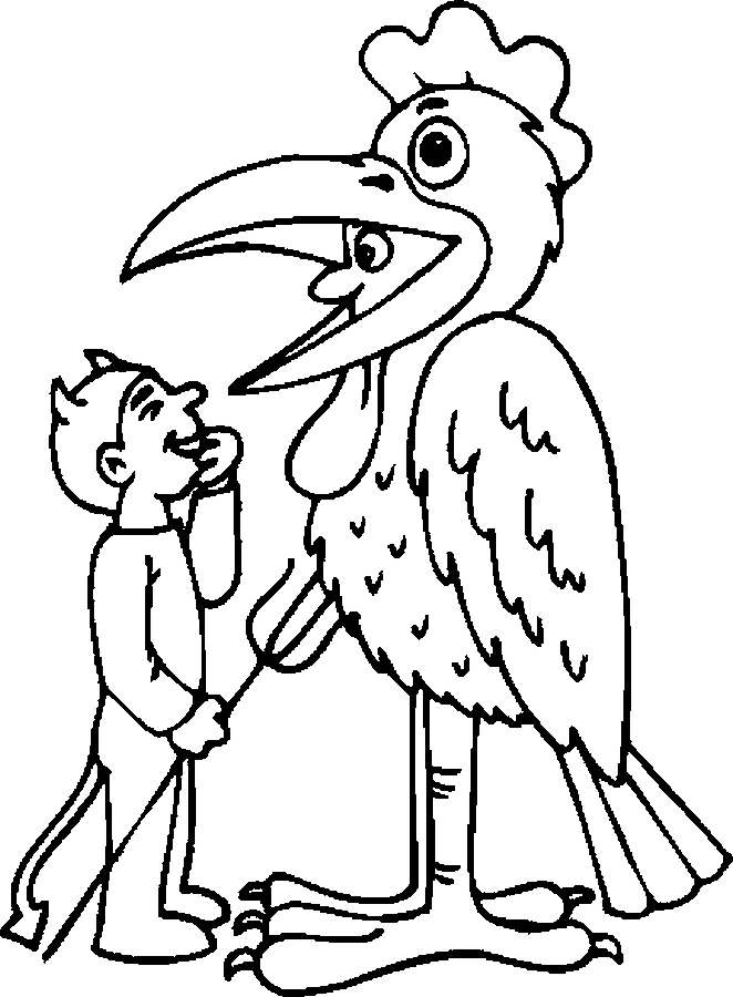 Costume – Chicken Coloring Page