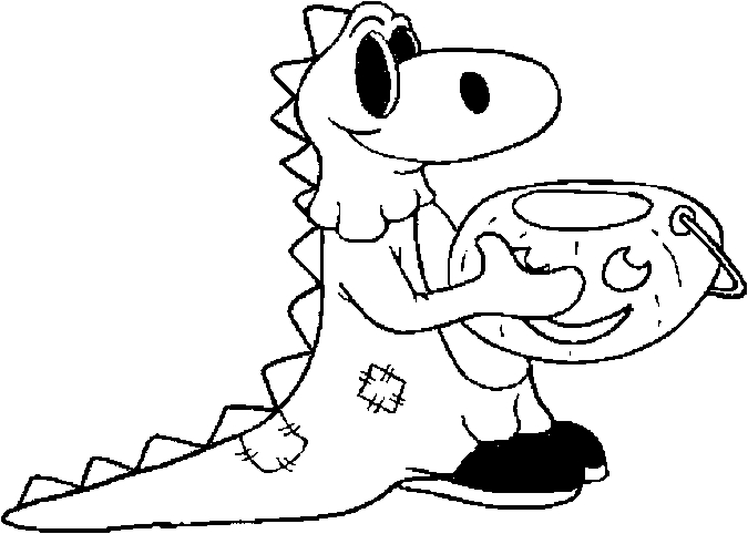 Costume – Dinosaur Coloring Page