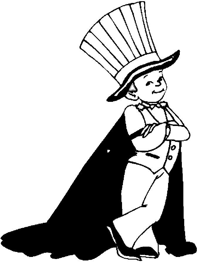 costume magician coloring page