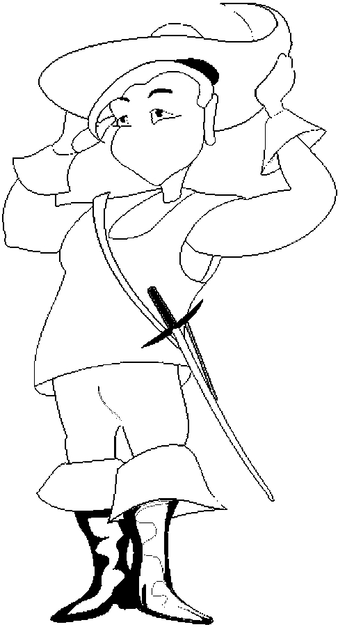 Costume – Musketeer Coloring Page