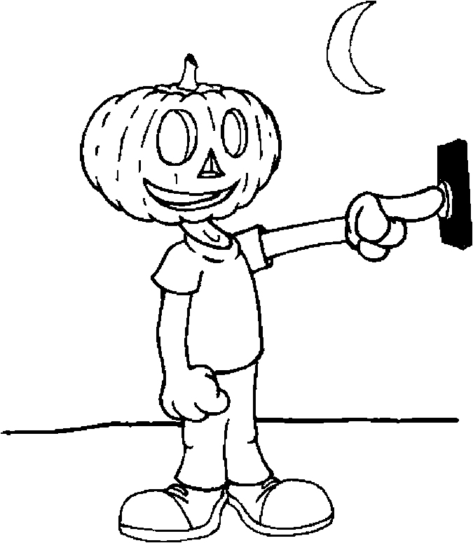 Costume – Pumpkinhead Coloring Page
