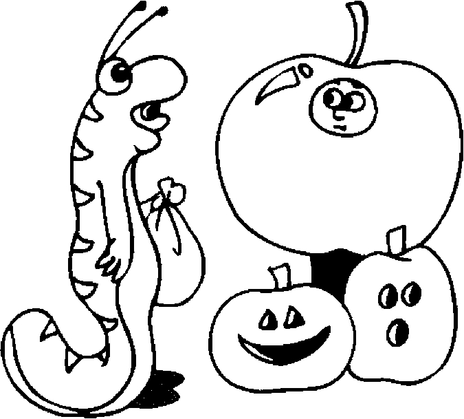 Costume – Worm Coloring Page