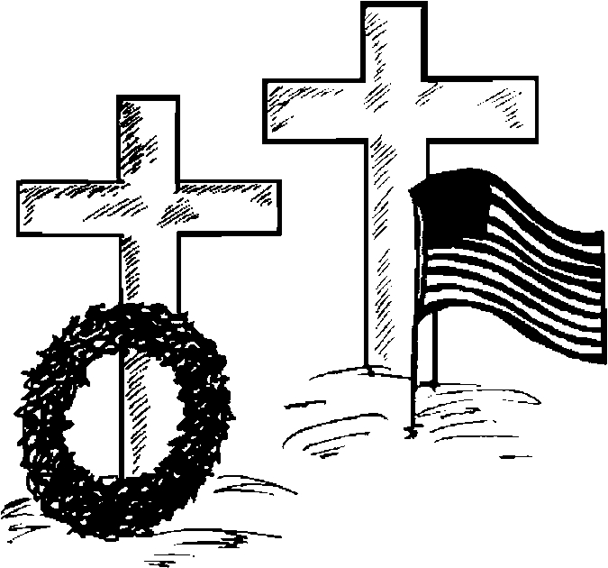 Crosses – Memorial Coloring Page