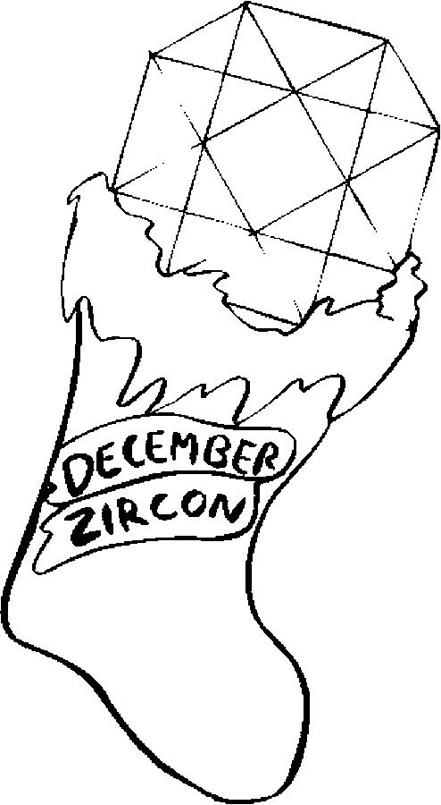 December – Zircon Coloring Page
