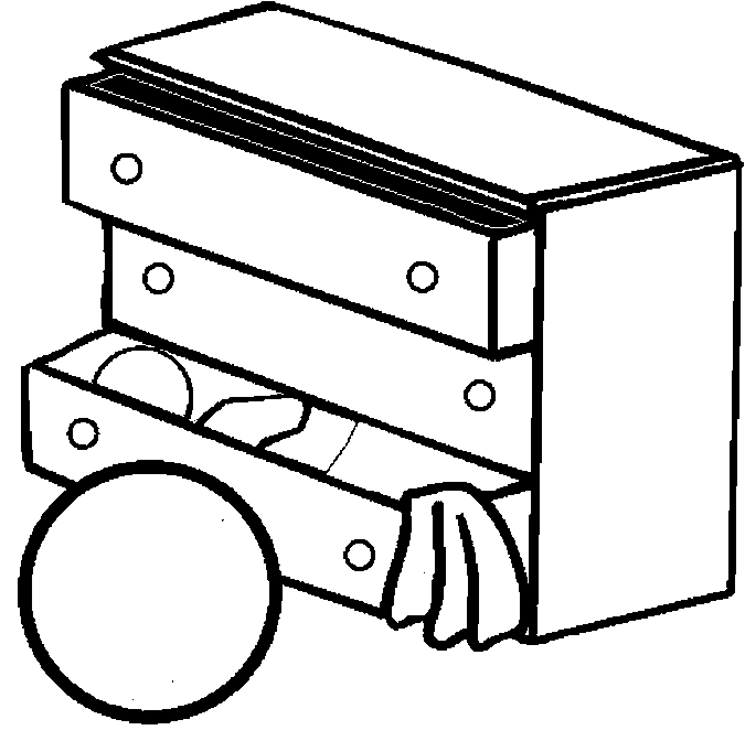 Dresser – Child's Coloring Page