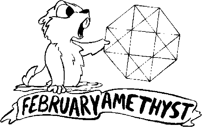 February – Amethyst Coloring Page