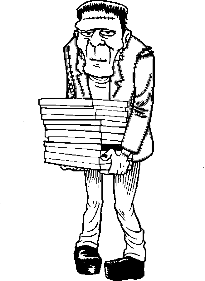 Frankenstein – Student Coloring Page