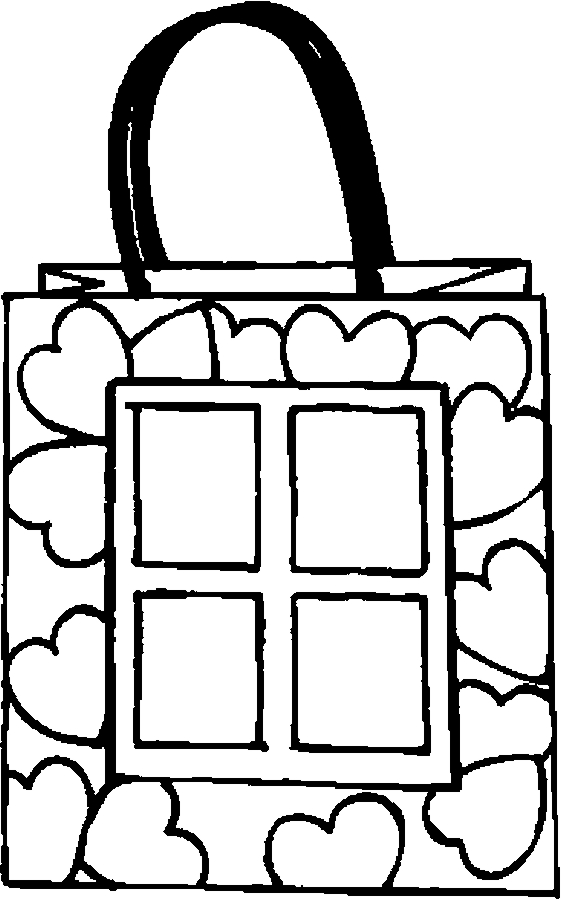 Gift Bag – Love Coloring Page