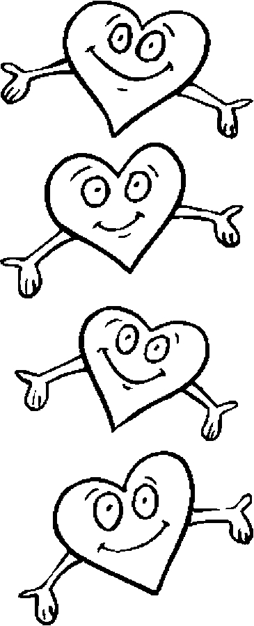 Hearts – Hug Me Coloring Page