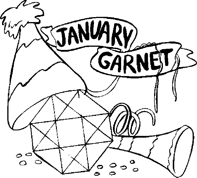 January Gar Coloring Page Color Book