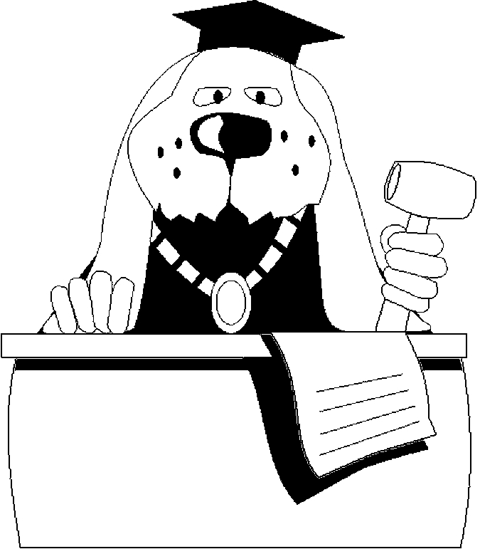 Judge – Dog Coloring Page
