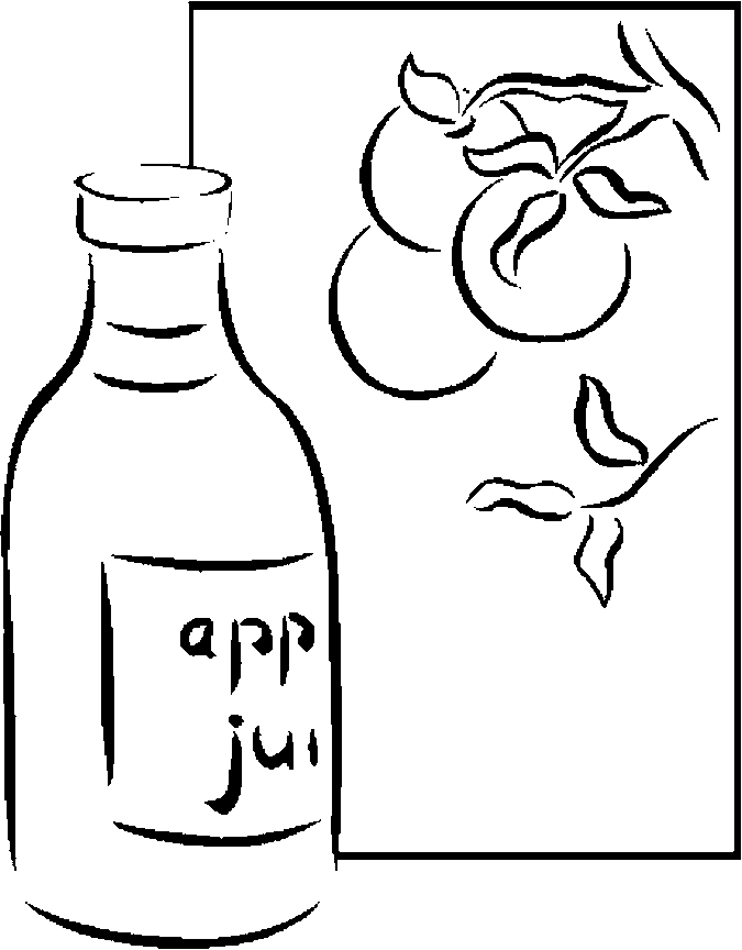 Juice – Apple Coloring Page - Color Book