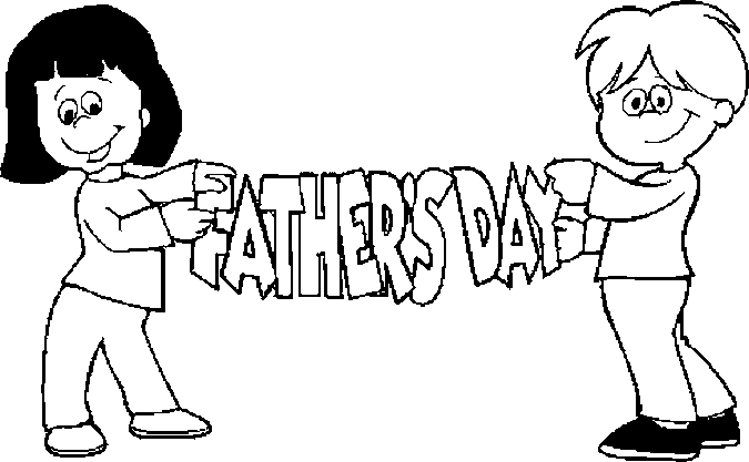 Kids – Father's Day Coloring Page