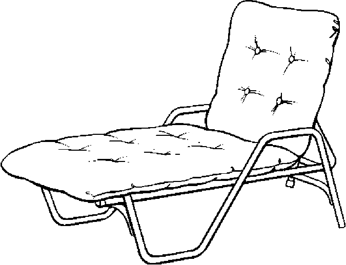Lawn Chair – Reclining Coloring Page