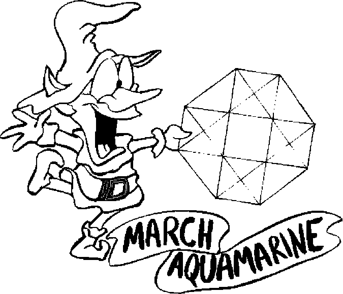 March – Aquamarine Coloring Page