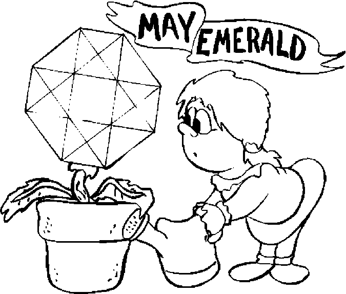May – Emerald Coloring Page