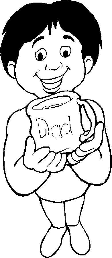 Mug – Dad Coloring Page