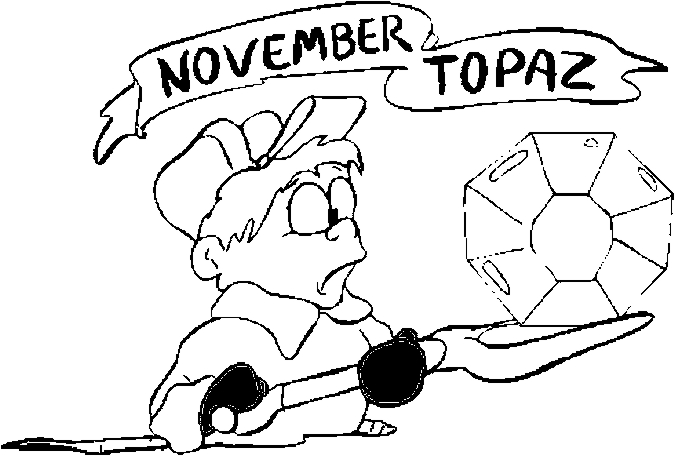 November – Topaz Coloring Page