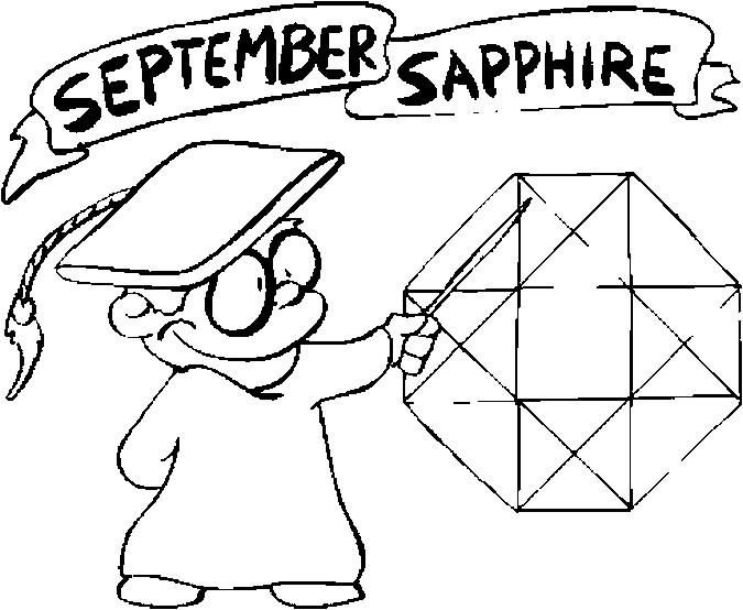 september sapphire coloring page