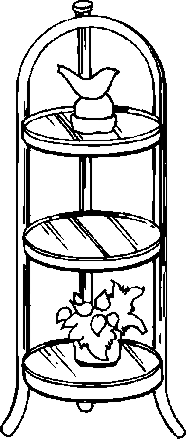 Shelf – Glass Coloring Page