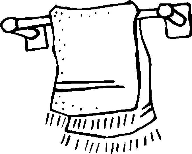 Towel Rack – His Coloring Page