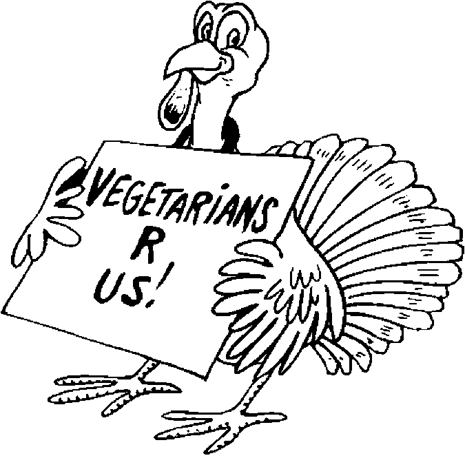 Turkey Vegetarian Coloring Page Color Book